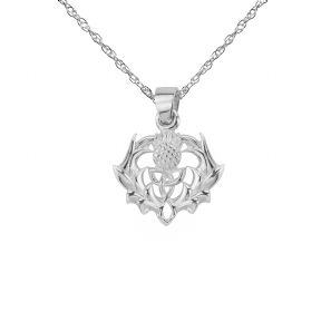 Scottish Thistle Silver Pendant 9277